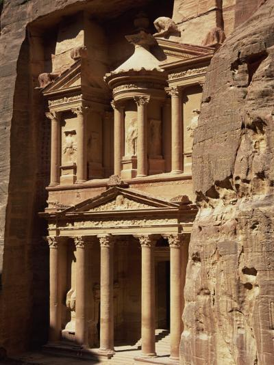 Al Khazneh, Rock-Cut Building Called the Treasury, Archaeological Site, Petra, Jordan, Middle East-Neale Clarke-Photographic Print