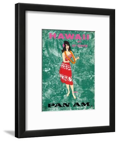 Hawaii by Clipper - Pan American Airlines - Hawaiian Hula Dancer