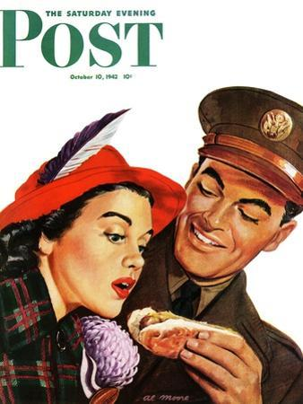 """Hot Dog for a Hot Date,"" Saturday Evening Post Cover, October 10, 1942"