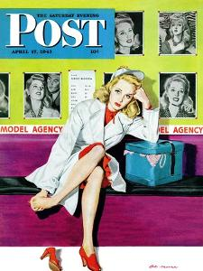"""""""The Model,"""" Saturday Evening Post Cover, April 17, 1943 by Al Moore"""