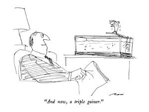 """""""And now, a triple gainer."""" - New Yorker Cartoon by Al Ross"""