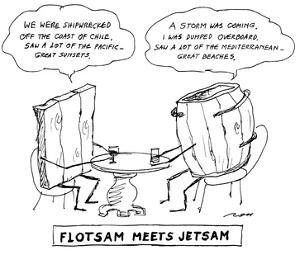 FLOTSAM MEETS JETSAM - New Yorker Cartoon by Al Ross