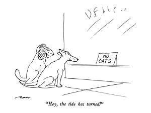 """Hey, the tide has turned!"" - New Yorker Cartoon by Al Ross"