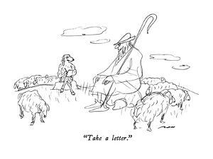 """Take a letter."" - New Yorker Cartoon by Al Ross"