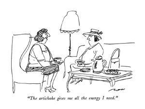 """""""The artichoke gives me all the energy I need."""" - New Yorker Cartoon by Al Ross"""