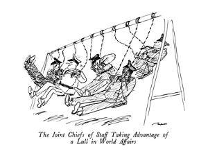 The Joint Chiefs of Staff Taking Advantage of a Lull in World Affairs - New Yorker Cartoon by Al Ross