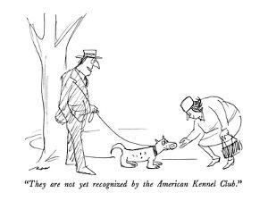 """""""They are not yet recognized by the American Kennel Club."""" - New Yorker Cartoon by Al Ross"""