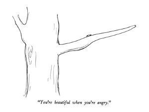 """""""You're beautiful when you're angry."""" - New Yorker Cartoon by Al Ross"""