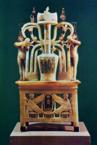 Alabaster perfume vase from the Tomb of Tutankhamun, 14th century BC. Artist: Unknown-Unknown-Giclee Print