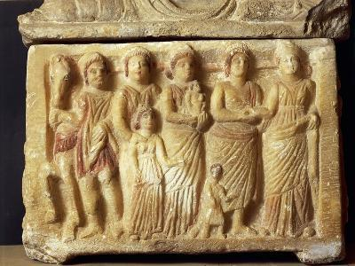 Alabaster Urn Depicting a Scene of a Funeral Procession, 5th Century BC--Giclee Print