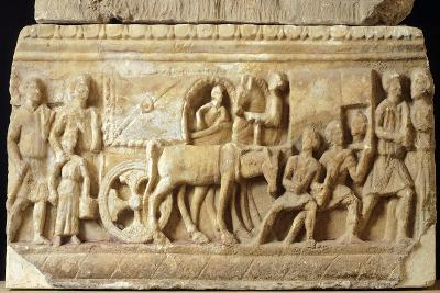 Alabaster Urn Depicting the Journey to the Underworld--Giclee Print