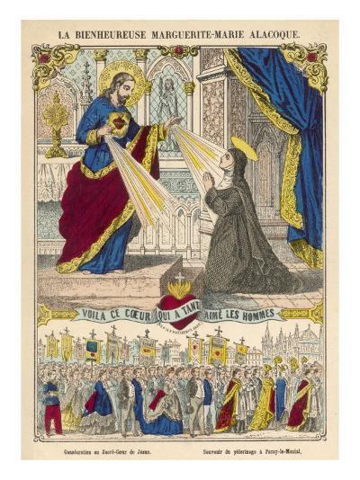 Alacoque and Jesus--Giclee Print