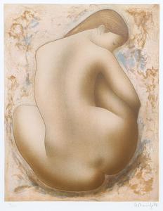 Seated Nude by Alain Bonnefoit