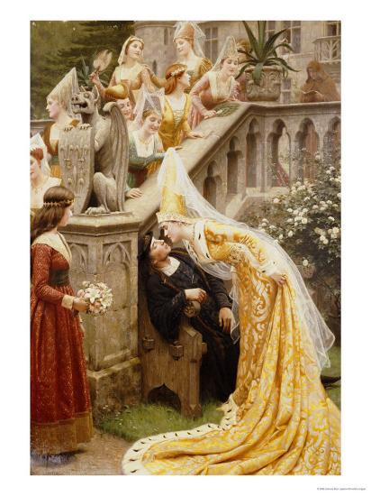 Alain Chartier, 1903-Edmund Blair Leighton-Giclee Print