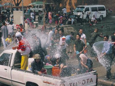 Songkran, Thai New Year, Water Festival, Chiang Mai, Thailand, Southeast Asia