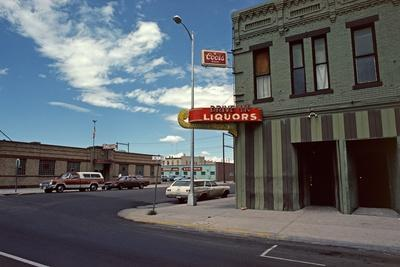 Drive in Liquor Store, Downtown Cheyenne, Wyoming, Usa, 1979