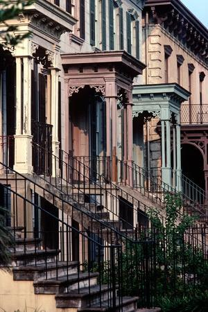 Historic Savannah, Bull Street, Savannah, Georgia, Usa, July 1983