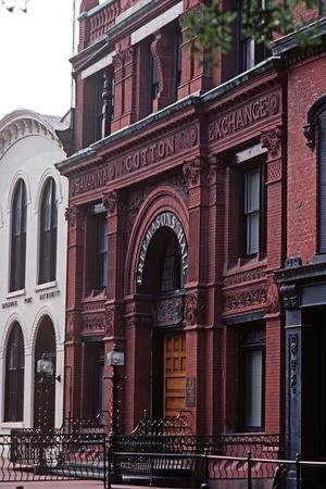 Savannah Cotton Exchange, Historic Savannah, Georgia, Usa, July 1983