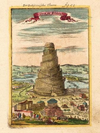 Tower of Babel, 1719 by Alain Manesson Mallet