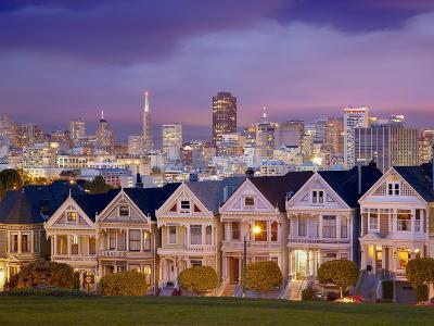 Alamo Square and the Victorian Style Painted Ladies Homes, San Francisco, California, USA-Patrick Smith-Photographic Print