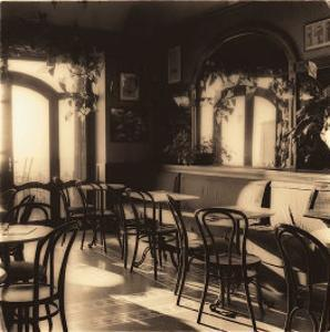 Caffe, Montepulciano by Alan Blaustein