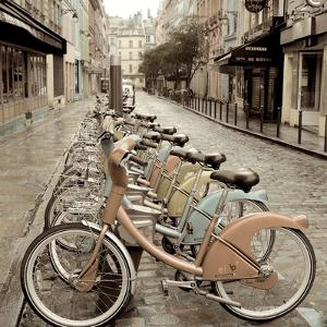 City Street Ride Paris by Alan Blaustein