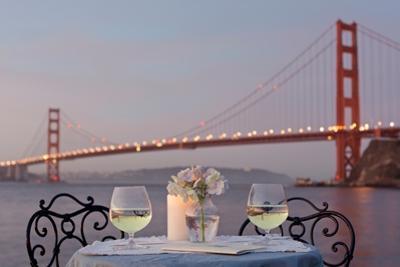 Dream Cafe Golden Gate Bridge #77 by Alan Blaustein