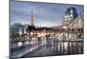 Louvre with Eiffel Tower Vista #1 by Alan Blaustein