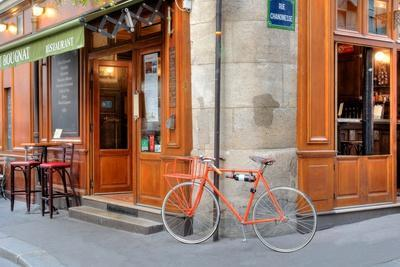Orange Bicycle, Paris