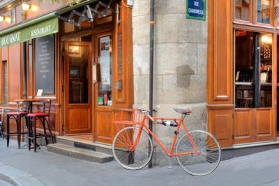 Orange Bicycle, Paris by Alan Blaustein