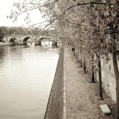 Sepia-Promenade Seine #2 by Alan Blaustein
