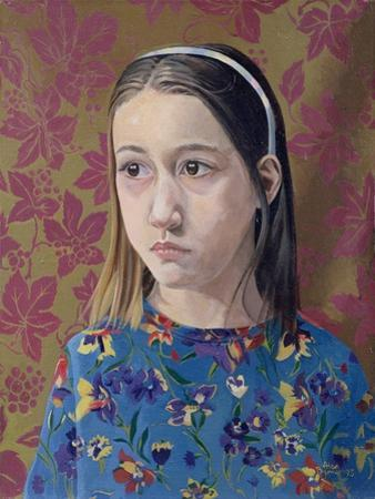 Painting of a Young Girl, 1993 by Alan Byrne