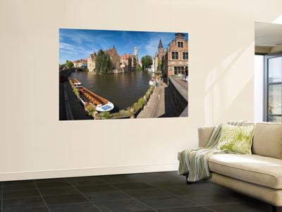 Belfort and River Dijver, Bruges, Flanders, Belgium