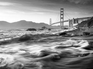 California, San Francisco, Golden Gate Bridge from Marshall Beach, USA by Alan Copson