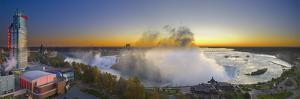 Canada, Ontario and USA, New York State, Niagara Falls, American Falls, Bridal Veil Falls and Horse by Alan Copson