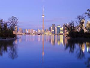 Canada, Ontario, Toronto, Cn Tower and Downtown Skyline from Toronto Island by Alan Copson