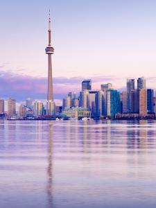 Canada, Ontario, Toronto, Cn Tower and Downtown Skyline by Alan Copson