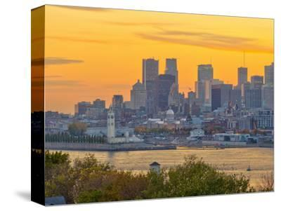 Canada, Quebec, Montreal, Downtown from Jacques Cartier Bridge across Saint Lawrence River