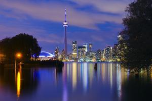 Canada, Toronto, CN Tower and Downtown Skyline by Alan Copson