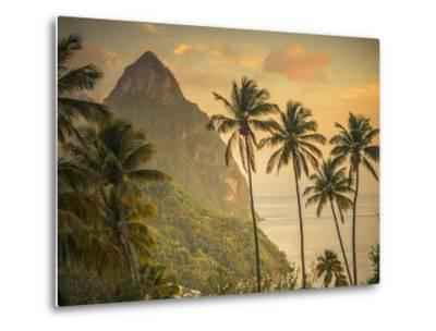 Caribbean, St Lucia, Petit and Gros Piton Mountains (UNESCO World Heritage Site)
