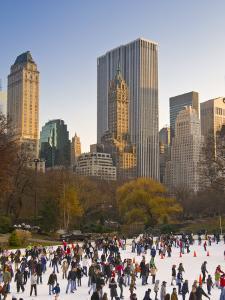 Central Park, Wollman Icerink, Manhattan, New York City, USA by Alan Copson