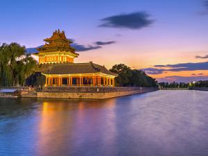 China, Beijing, Forbidden City, Palace Moat by Alan Copson