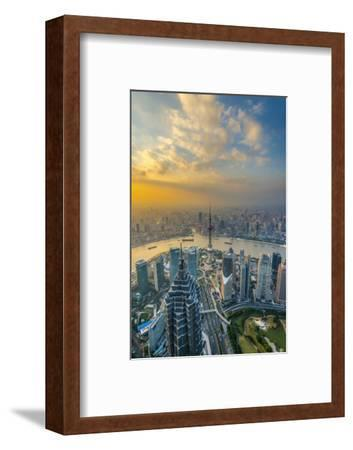 China, Shanghai, View over Pudong Financial District, Huangpu River Beyond