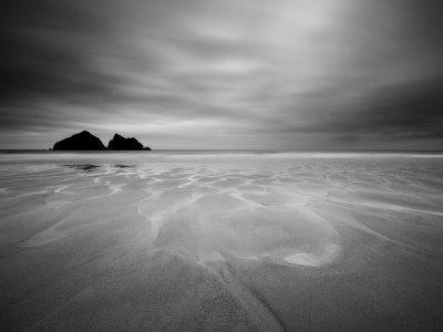 Cornwall, Holywell Bay, Holywell Beach and Carters or Gulls Rocks, UK