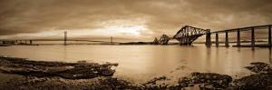 Forth Road and Rail Bridges, Firth of Forth, Edinburgh, Scotland, UK by Alan Copson