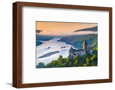 Germany, Rhineland Palatinate, Bacharach, Burg Stahleck (Stahleck Castle), River Rhine