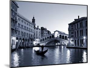 Gondola by the Rialto Bridge, Grand Canal, Venice, Italy by Alan Copson