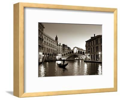 Gondola by the Rialto Bridge, Grand Canal, Venice, Italy