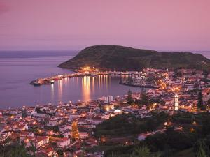 Harbour and Town of Horta, Faial Island, Azores, Portugal by Alan Copson
