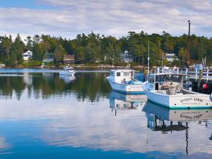 Lobster Fishing Boats, Boothbay Harbor, Maine, New England, United States of America, North America by Alan Copson